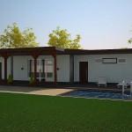 Загородный дом «Летний» — бюджетный конструктивизм