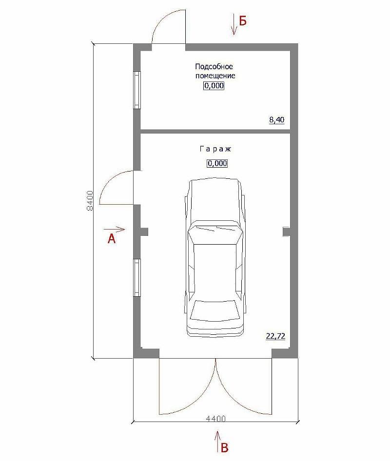 """План гаража """"Дачный"""""""