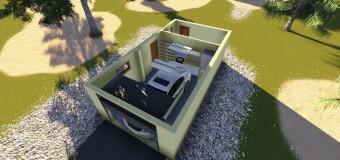 Гараж «Дачный» — проект отдельностоящего гаража