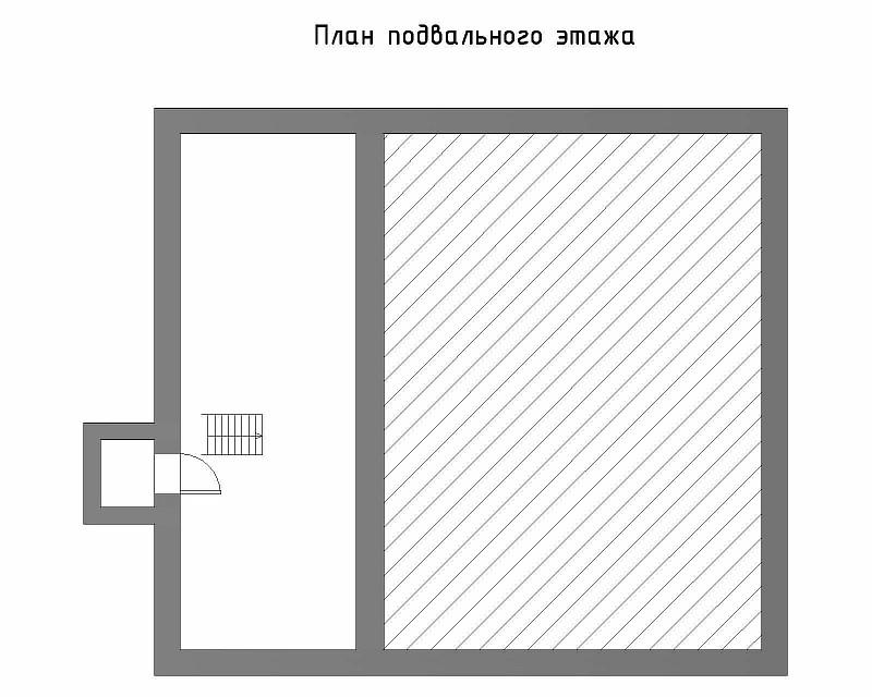 """План подвального этажа загородного дома """"Фахверк"""""""