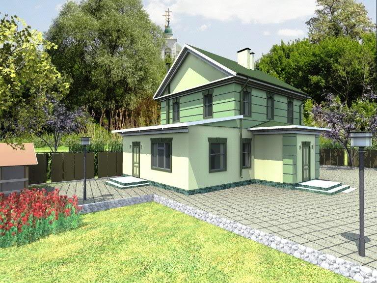 "Проект загородного дома ""Комфорт"" - фасад"