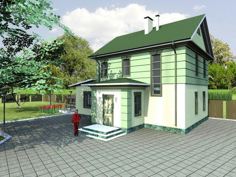 """Проект двухэтажного загородного дома """"Комфорт"""" - визуализация"""