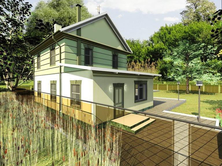 """Визуализация проекта двухэтажного загородного дома """"Комфорт"""""""