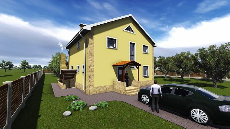 """Визуализация загородного дома """"Семейный"""""""