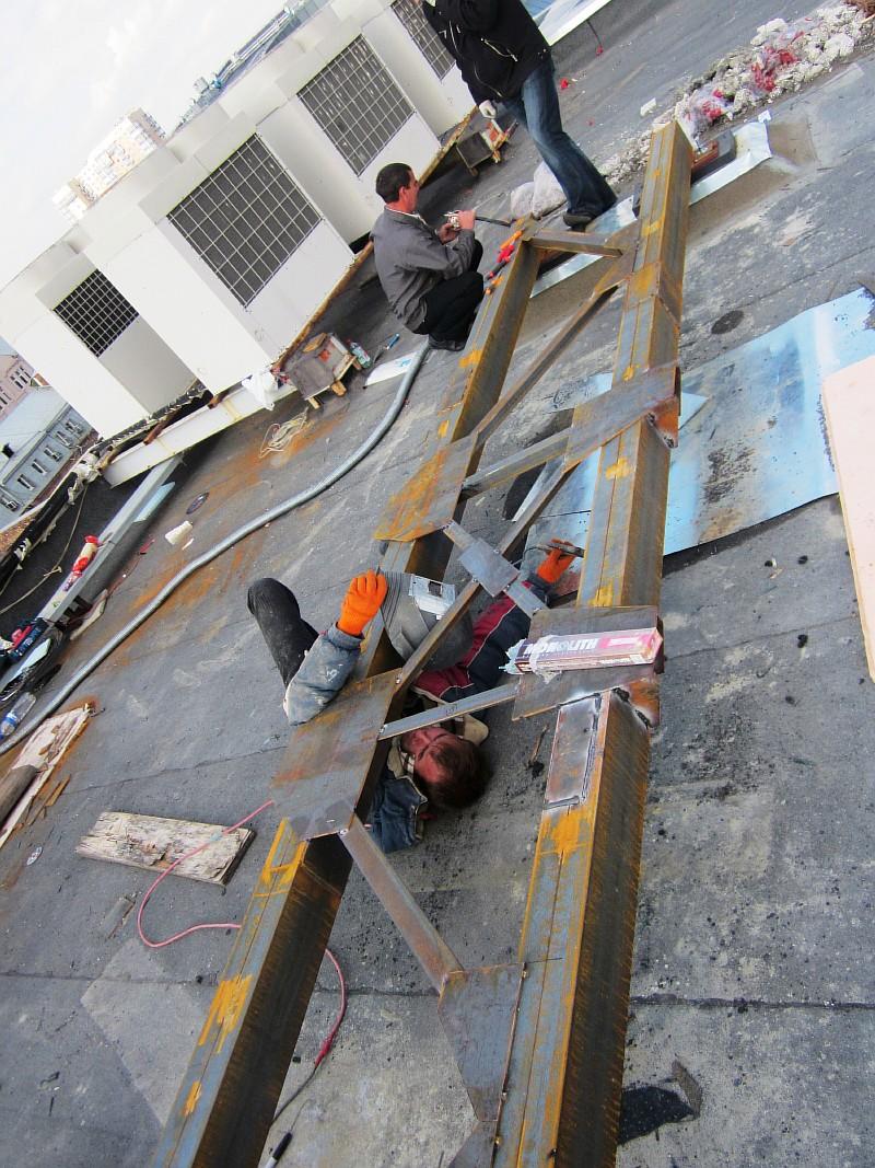 Фото 1 Общий вид опорной площадки под электрогенератор