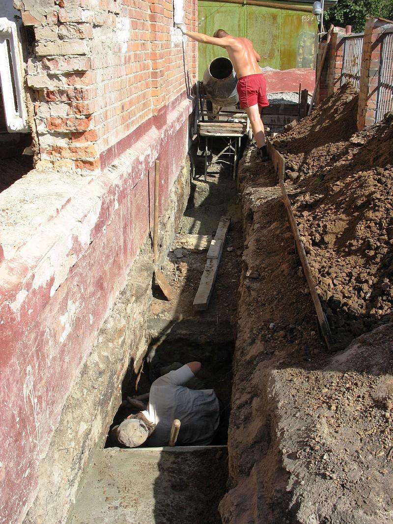 Фото 4 Разработка грунта под подошвой фундамента