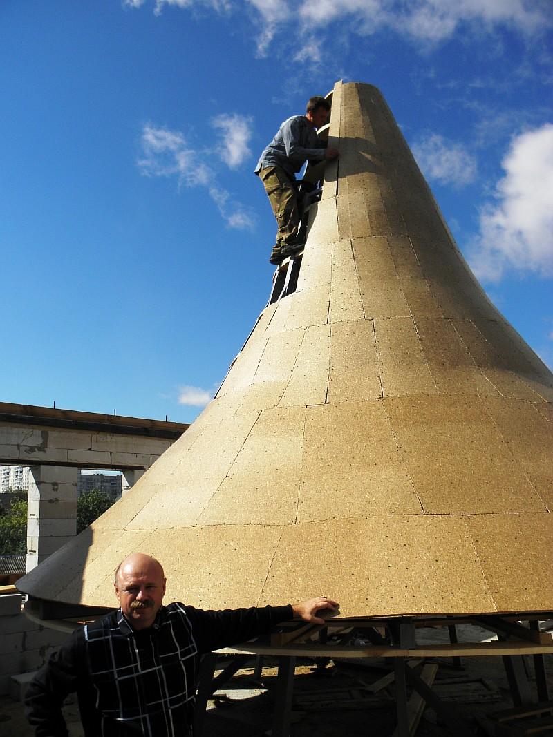 Фото 6 Обшивка купола практически закончена