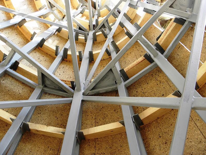 Фото 8 Вид обшивки купола изнутри