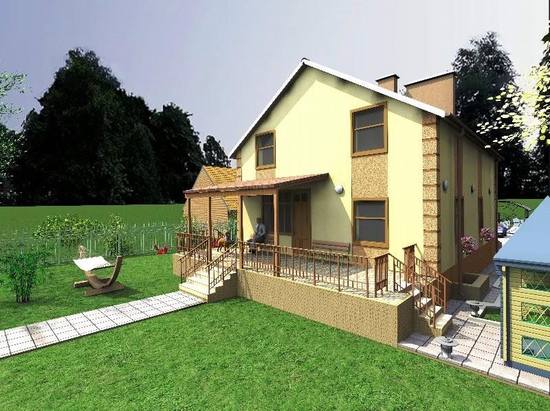 Проект загородного дома «Просторный» - визуализация