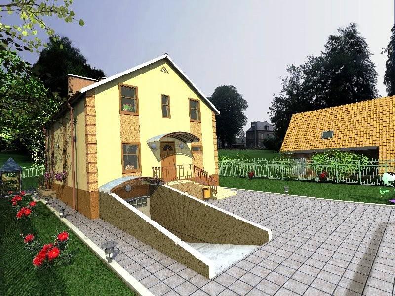 Проект двухэтажного загородного дома