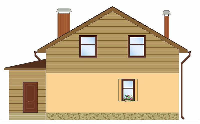 """Фасад двухэтажного загородного дома """"Аля"""""""