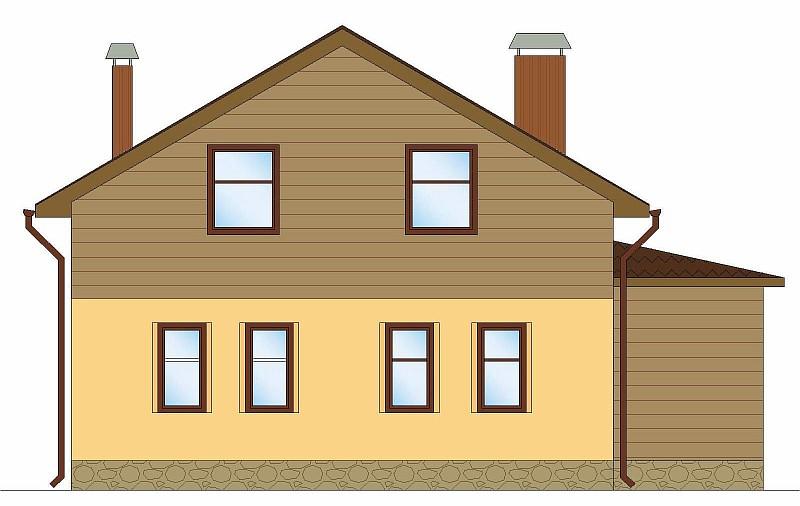 """Проект загородного двухэтажного дома """"Аля""""- фасад"""