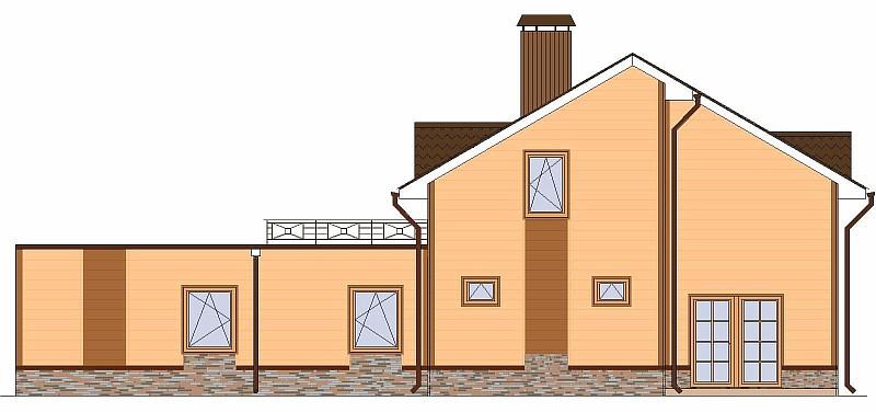 """Одно-двухэтажный загородный дом """"Элин"""" - фасад"""