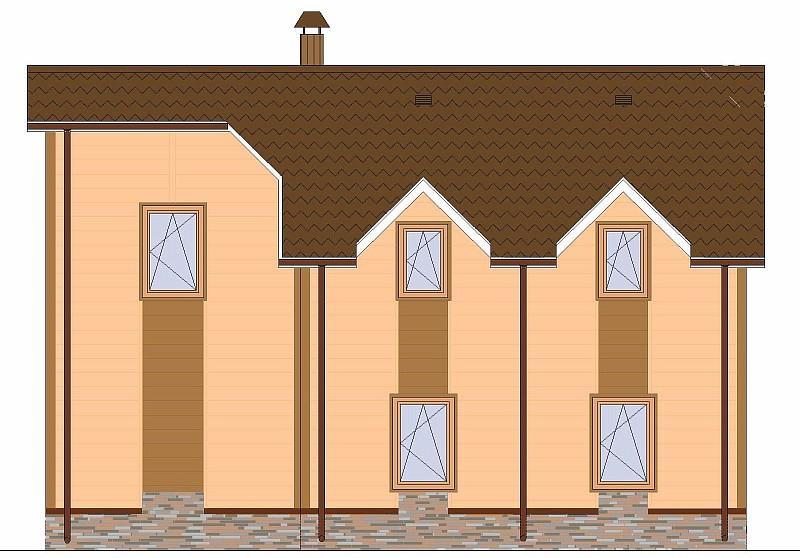 """Проект одно-двухэтажного жилого дома """"Элин"""" - фасад"""