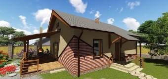 Проект одноэтажного загородного дома «Бюджетный-1» — простота со вкусом