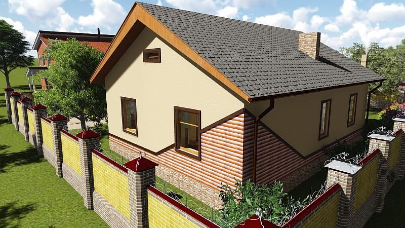 """""""Бюджетный-1"""" - одноэтажный загородный дом"""
