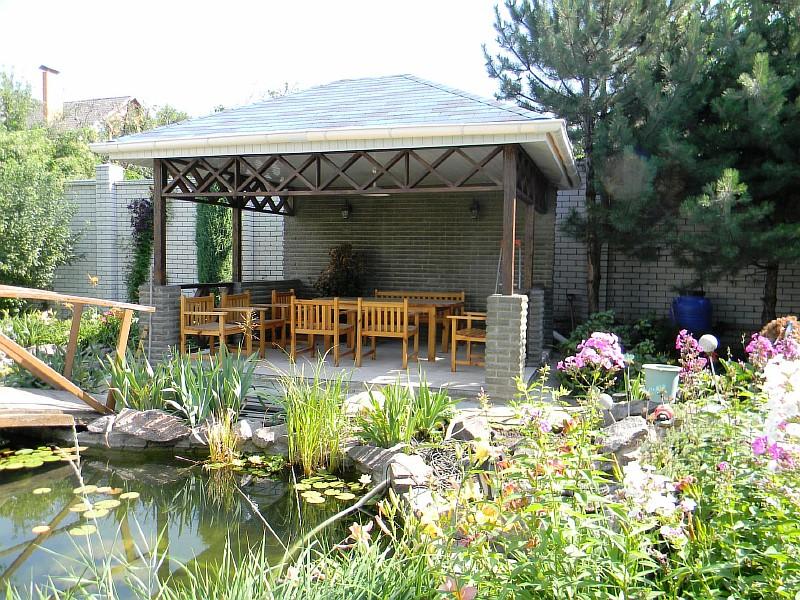 Садовая беседка - проект, строительство