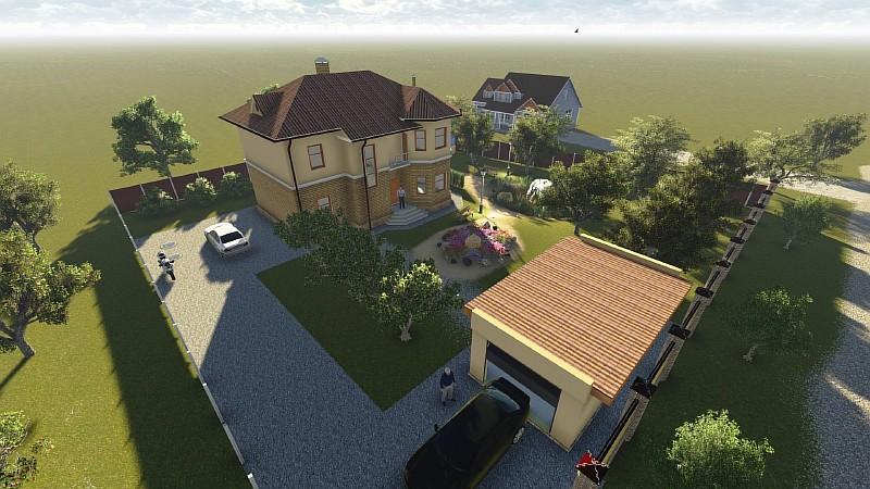 """Визуализация двухэтажного загородного дома """"Аллан-2"""""""
