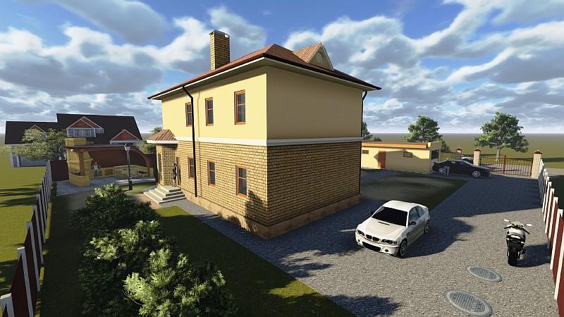 """Визуализация жилого дома """"Аллан-2"""""""