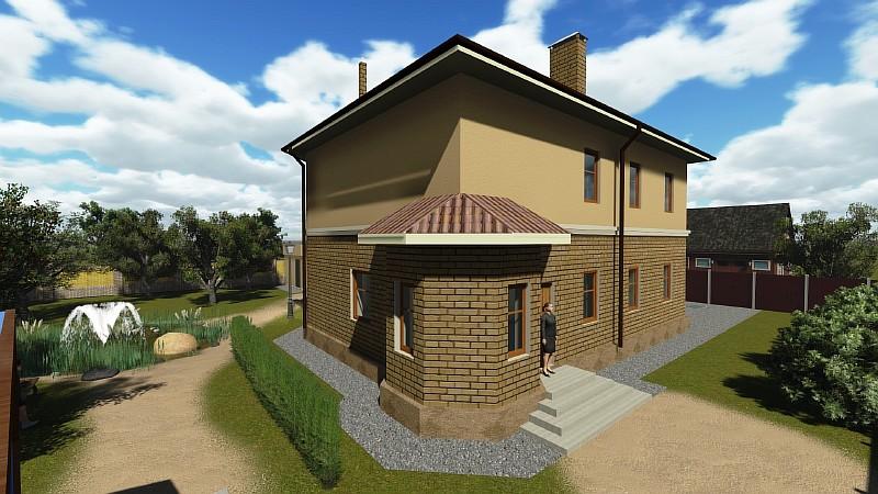 """Визуализация жилого загородного дома """"Аллан-2"""""""