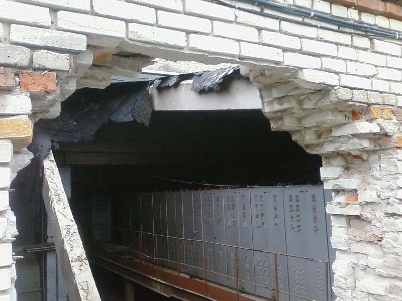 Фото 1 Аварийная перемычка в наружной стене