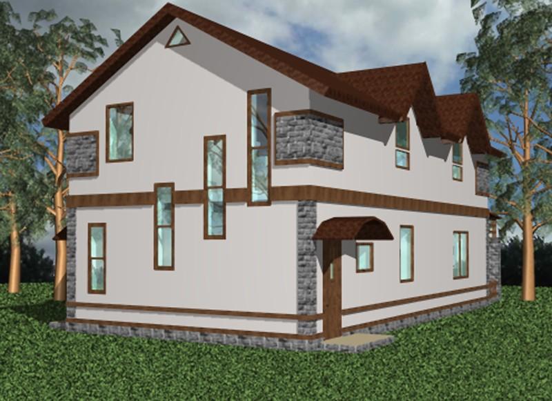 """Визуализация двухэтажного жилого дома """"Южный"""""""