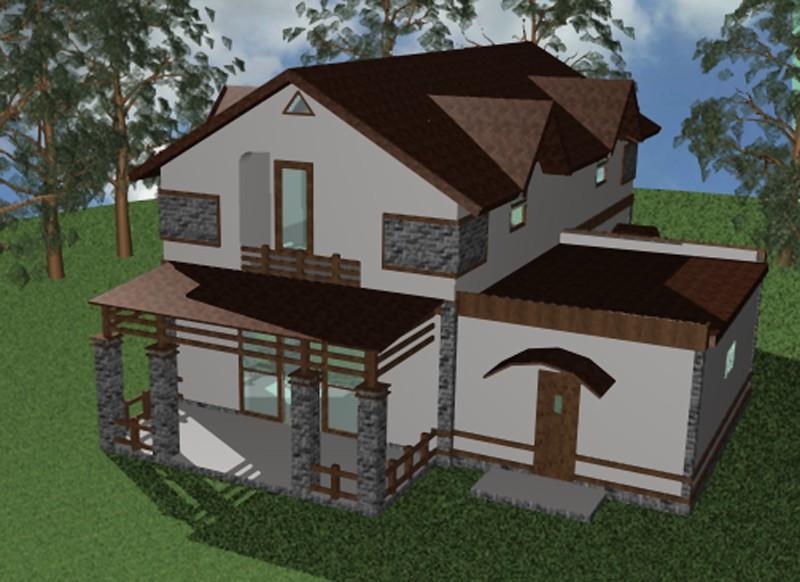 """Проект загородного дома """"Южный"""""""