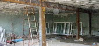 Фотоотчет: замена несущей стены на колонны каркаса
