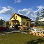 Проект двухэтажного жилого дома «Бюджетный-2» — загородный дом с «растущими» возможностями