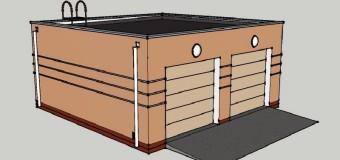 Проект гаража «Парочка» — гараж для двух автомобилей