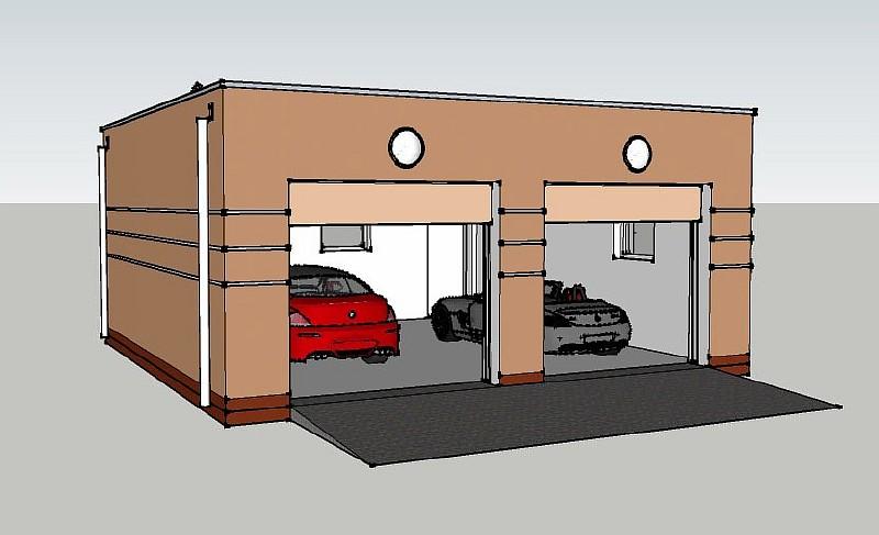 Проект гаража на два авто