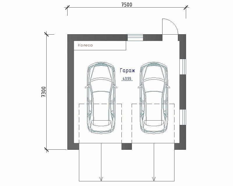 """План гаража """"Парочка"""""""