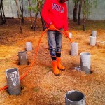 Фотоотчет: Как сделать свайный малозаглубленный фундамент?