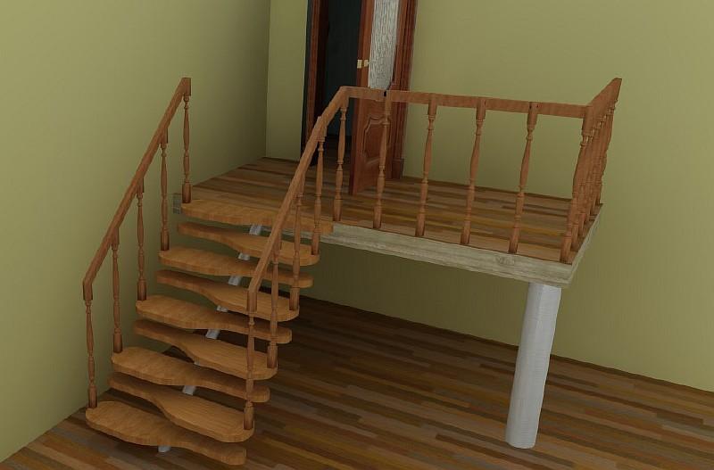 Лестница гусинный шаг