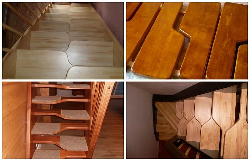 Примеры лестниц гусиный шаг
