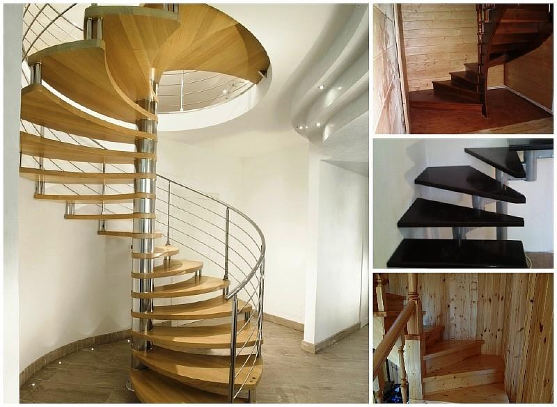 Примеры лестниц с забежными ступенями