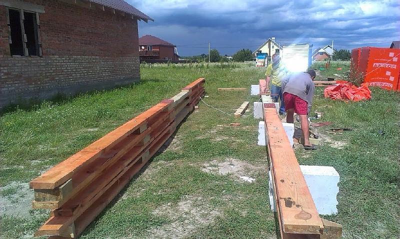 Фото 1 Изготовление нижних поясов стропильных ферм