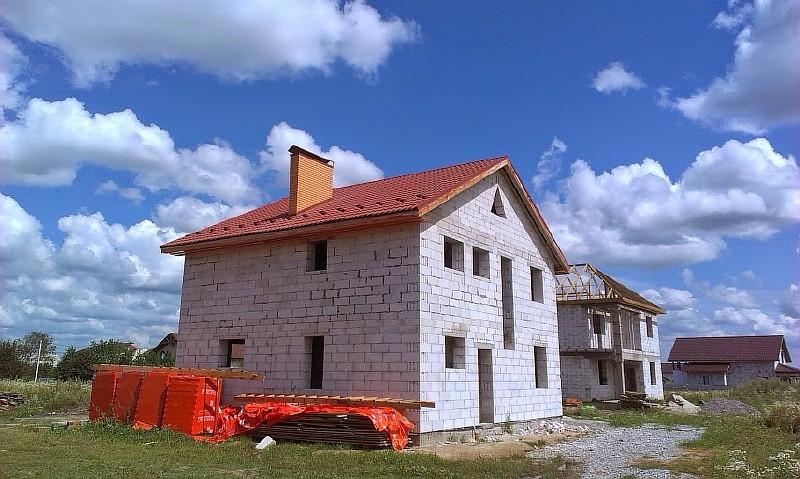 Фото 18. Дом по проекту Семейный. Коробка дома возведена.