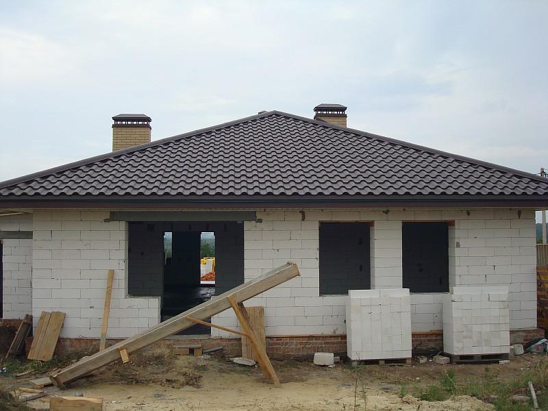 Фото 2. Дом по проекту Мечта. Дворовой фасад дома