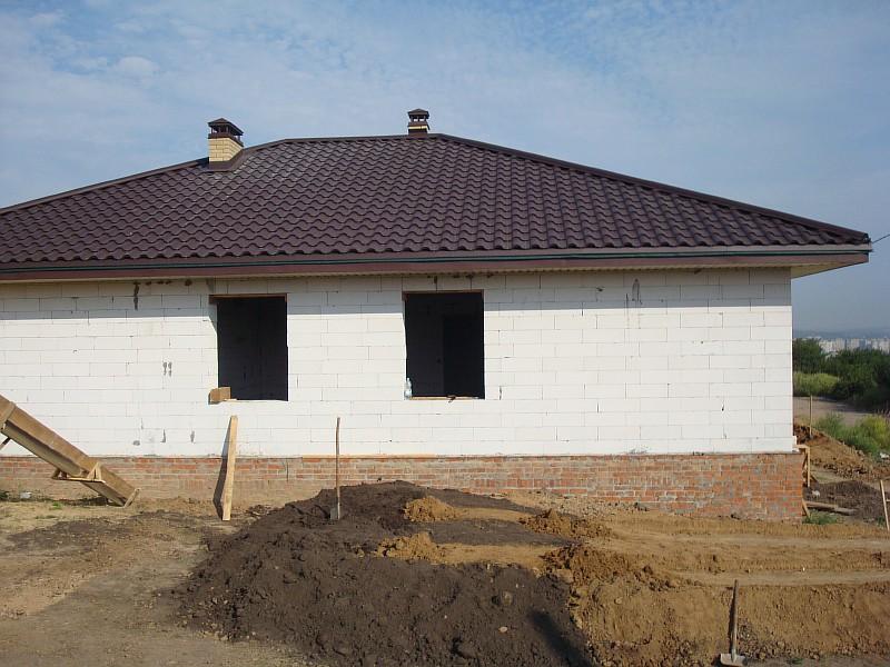 Фото 3. Дом по проекту Мечта. Боковой фасад дома