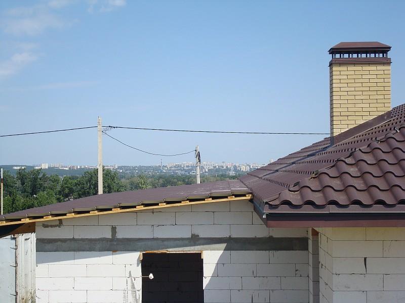 Фото 4. Сопряжение кровли дома с покрытием гаража