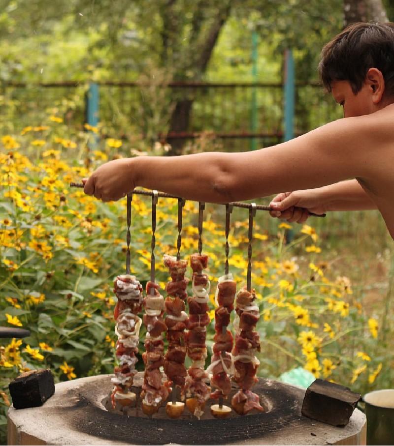 Фото 14 Готовим шашлык на тандыре