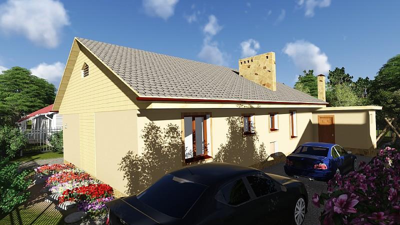 """Визуализация проекта """"Дом в саду"""""""