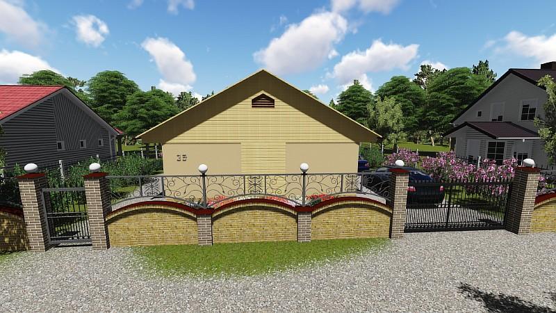 """Проект одноэтажного дома - """"Дом в саду"""""""