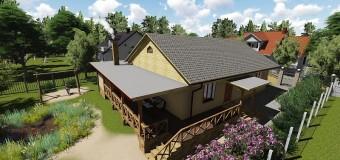 Проект загородного жилья «Дом в саду» — лаконичность и простота