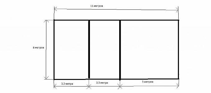 Фото 1. Схема расположения фундаментных лент