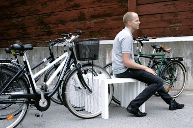 Фото 17. Удобная велопарковка