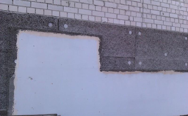 Фото 5. Утепление стен фибролитовыми плитами