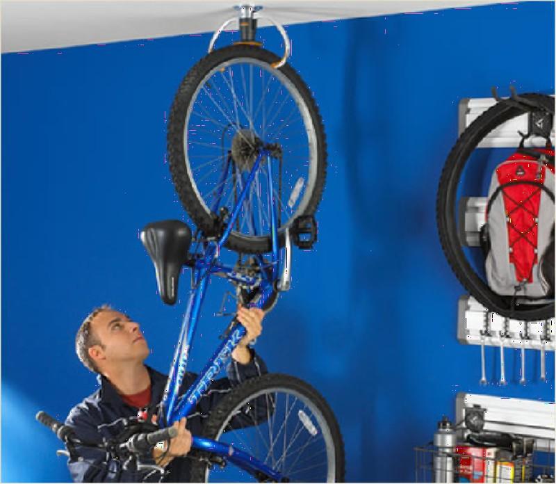 Фото 6. Подвесим велосипед к потолку