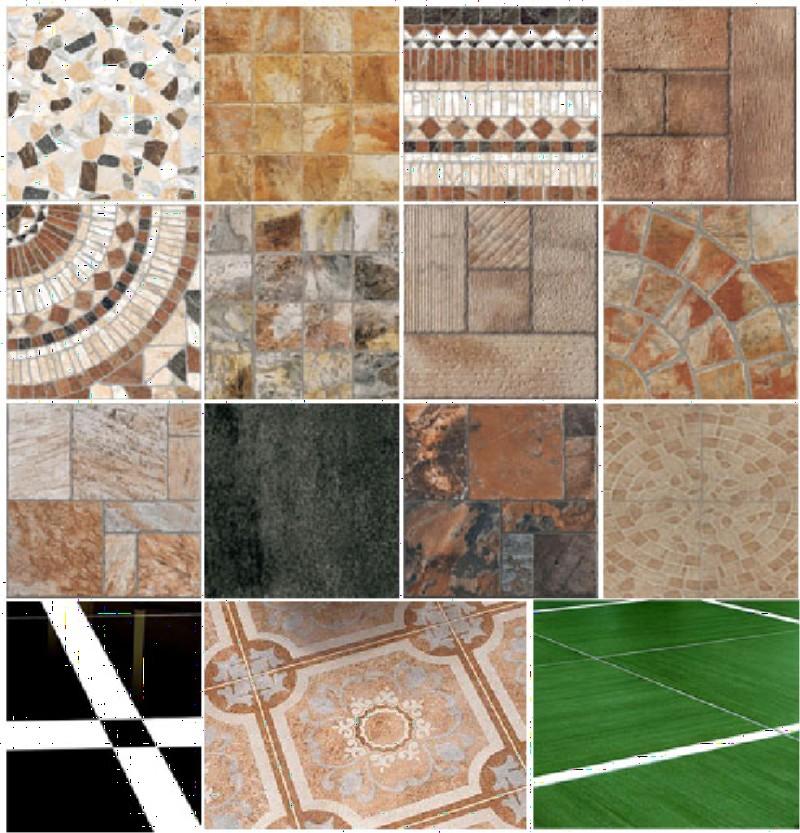 Фото 3. Разновидности поверхностей и текстуры керамогранитной плитки